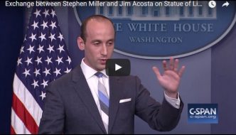 White House Adviser Stephen Miller Talks About Statue of Liberty & Immigration