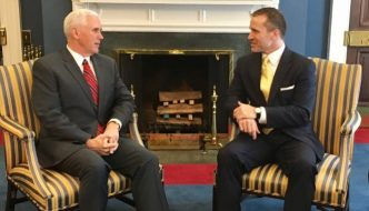 Mike Pence and Eric Greitens