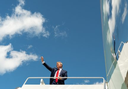 President Trump Waves Goodbye