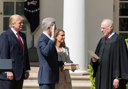Swearing in judge Neil M. Gorsuch